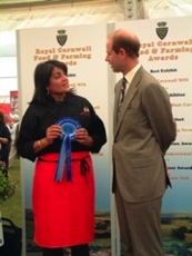 HRH Prince Edward presenting Nicky with an Award at the Royal Cornwall Show